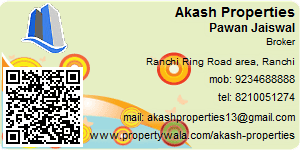 Visiting Card of Akash Properties