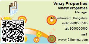Visiting Card of Vinay Properties