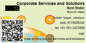 Visiting Card of Corporate Services and Solutions