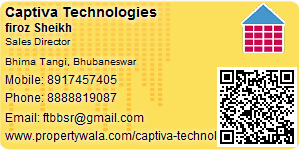Visiting Card of Captiva Technologies Pvt Ltd