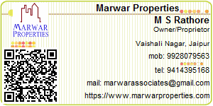 Visiting Card of Marwar Properties